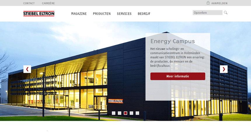 Fenoomenaal verzorgde website voor STIEBEL ELTRON Nederland