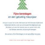 Kerstkaart VVE Diensten Nederland Rotterdam Fenoomenaal